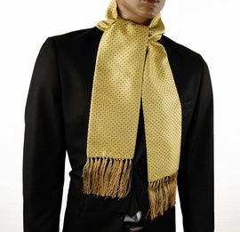 Yellow and Brown Polka Dots Men's Scarf (SC2009-H)