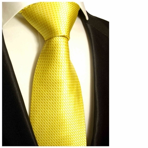 Yellow Paul Malone Silk Necktie