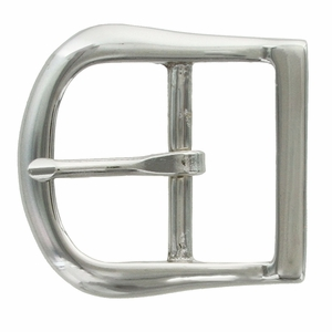 9946-2 NP Solid Brass Polished Nickle Finish  Belt Buckle  1""