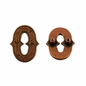 "Number ""0"" Screw Back Concho-Copper"