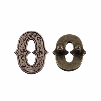 "Number ""0"" Screw Back Concho-Old Silver"