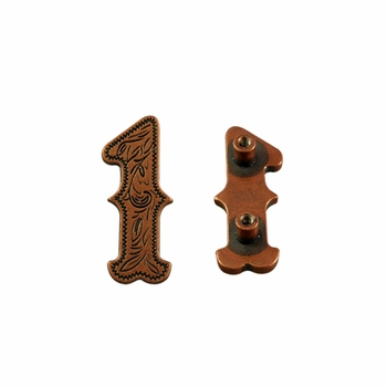 "Number ""1"" Screw Back Concho-Copper"