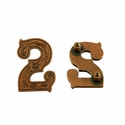 "Number ""2"" Screw Back Concho-Copper"