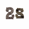 "Number ""2"" Screw Back Concho-Old Silver"