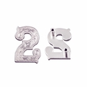 "Number ""2"" Screw Back Concho-Shiny Silver"