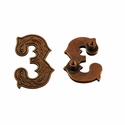 "Number ""3"" Screw Back Concho-Copper"