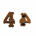 "Number ""4"" Screw Back Concho-Copper"