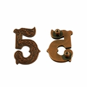 "Number ""5"" Screw Back Concho-Copper"