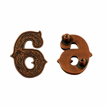 "Number ""6"" Screw Back Concho-Copper"