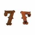 "Number ""7"" Screw Back Concho-Copper"