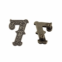 "Number ""7"" Screw Back Concho-Old Silver"