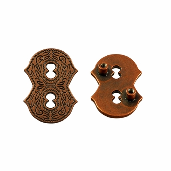 "Number ""8"" Screw Back Concho-Copper"