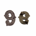 "Number ""9"" Screw Back Concho-Old Silver"