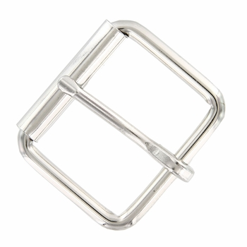 "Metal Roller Buckle 1-1/2"" Wide - Nickle Plated"