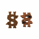 "Symbol ""$"" Screw Back Concho-Copper"