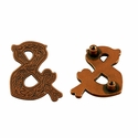 "Symbol ""&"" Screw Back Concho-Copper"