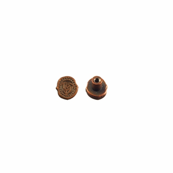 "Symbol ""(.)"" Screw Back Concho-Copper"