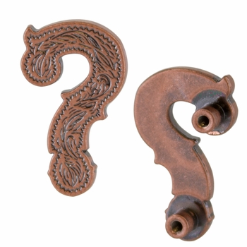 "Symbol ""?"" Screw Back Concho-Copper"