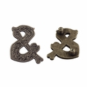 "Symbol ""&"" Screw Back Concho-Old Silver"