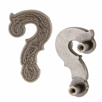 "Symbol ""?"" Screw Back Concho-Old Silver"