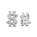 "Symbol ""$"" Screw Back Concho-Shiny Silver"