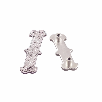 "Symbol ""/"" Screw Back Concho-Shiny Silver"