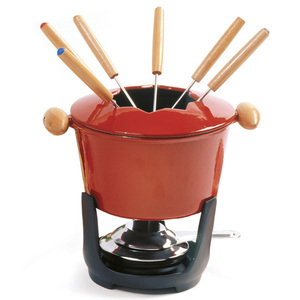10 pc Cast Iron Fondue Set