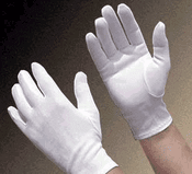 "10"" White Adult Gloves"