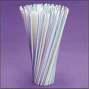 100 Striped Straws