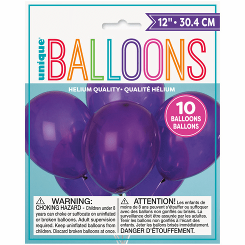 "10 12"" Purple Balloons"