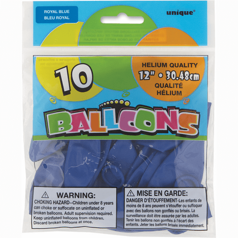 "10  12"" Royal Blue Balloons"
