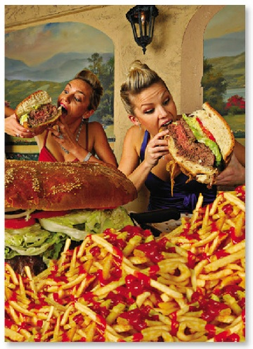 2 Women Big Burger