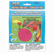 200 Water Bomb Balloons w/ filler nozzle