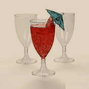 25 Plastic Wine Glasses