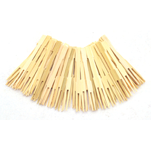"3.5"" Bamboo Party Forks"