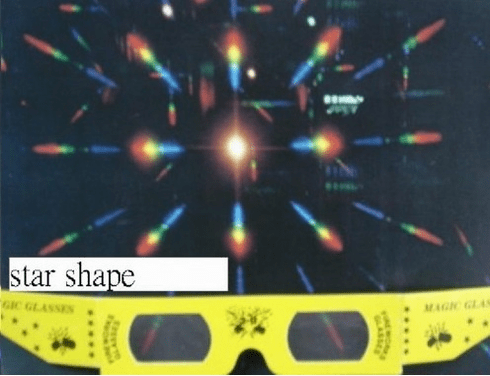 3-D Fireworks Glasses