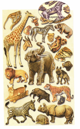 3D STICKERS: Animals