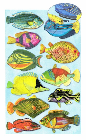 3D STICKERS: Fish