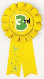3rd Place Prized Ribbon