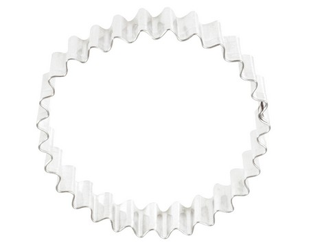 "4"" Crinkled/Fluted Circle Cookie Cutter"