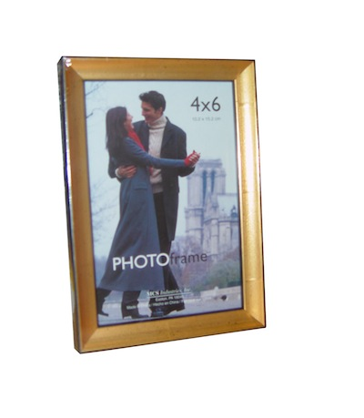 "4"" x 6"" Solid Wood Gold Promo Frame"