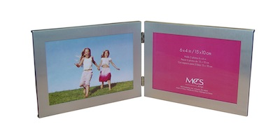 "4"" x 6"" Stamped Metal Double Frame"