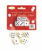 5 Dice on Card