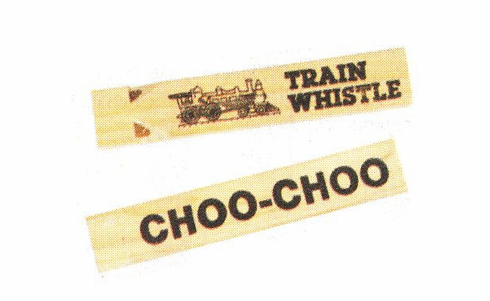 "7"" Wooden Train Whistle"