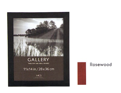 """8"""" x 10"""" Gallery Flat-Top Rosewood Frame"""