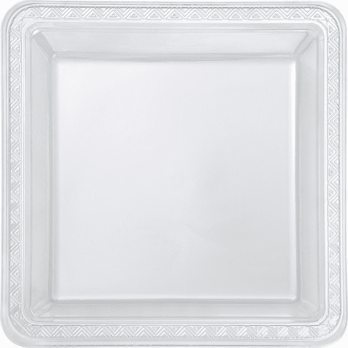 "8 ct. Clear Square 9"" Plates"
