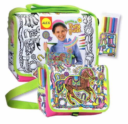 Alex Color a Pony Purse