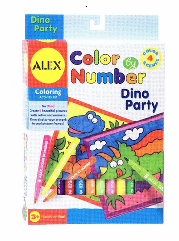 Alex Color By Number Dino Party