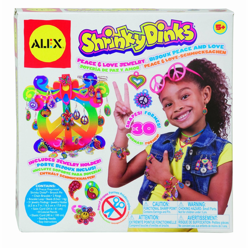 Alex Peace & Love Jewelry Shrinky Dinks