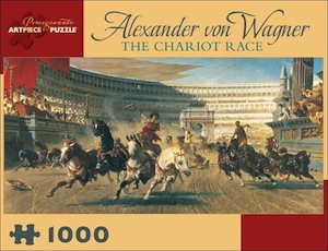 Alexander von Wagner: The Chariot Race Jigsaw Puzzle